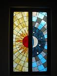 Sun and Moon Stained Glass Window